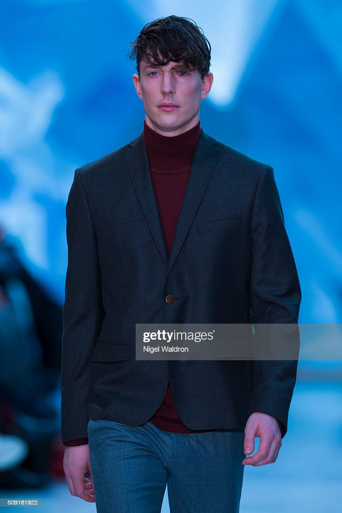 A model walks the runway at the Johnny Love show during the Fashion Week Oslo Autumn/Winter 2016/2017 at the Oslo Opera House on February 09, 2016 in Oslo, Norway.