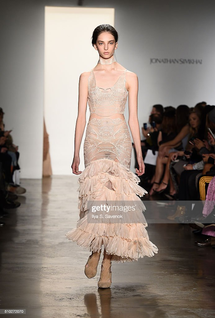 A model walks the runway at the Jonathan Simkhai fashion show during Fall 2016 MADE Fashion Week at Milk Studios on February 14, 2016 in New York City.