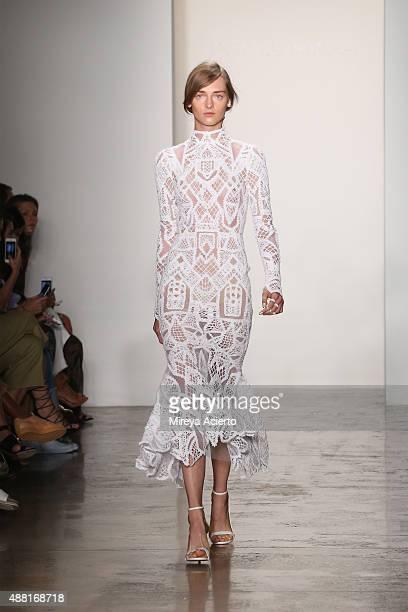 A model walks the runway at the Jonathan Simkhai runway show during Spring 2016 MADE Fashion Week at Milk Studios on September 13 2015 in New York...