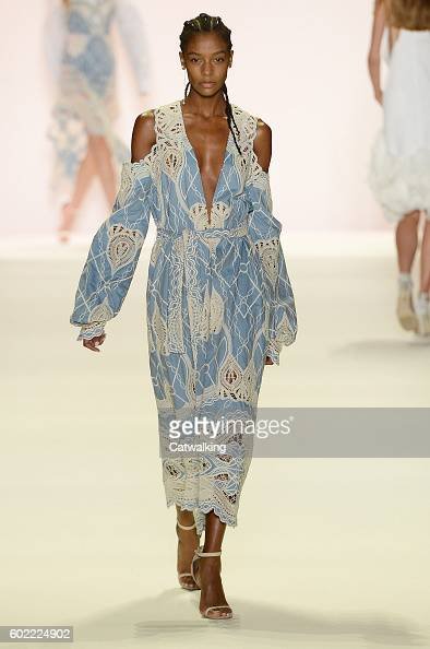 A model walks the runway at the Jonathan Simkhai Spring Summer 2017 fashion show during New York Fashion Week on September 10 2016 in New York United...