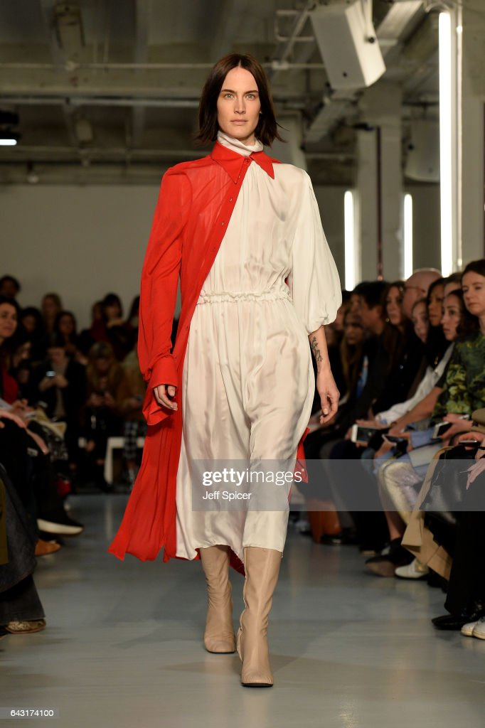 model-walks-the-runway-at-the-joseph-show-during-the-london-fashion-picture-id643174100