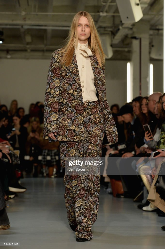 model-walks-the-runway-at-the-joseph-show-during-the-london-fashion-picture-id643176136