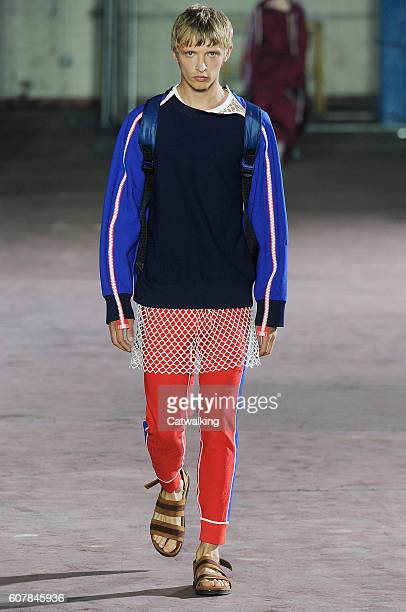 A model walks the runway at the Joseph Spring Summer 2017 fashion show during London Fashion Week on September 19 2016 in London United Kingdom