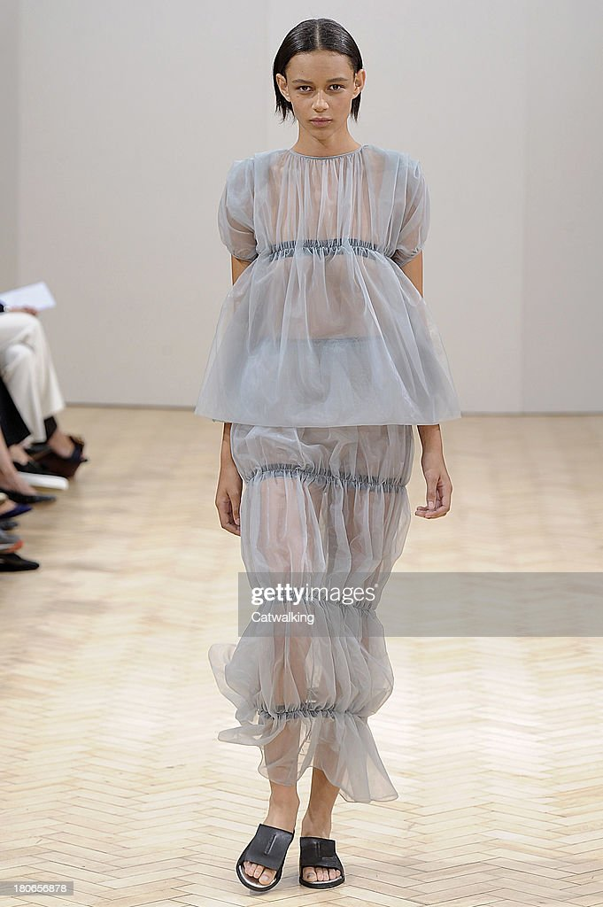 A model walks the runway at the JW Anderson Spring Summer 2014 fashion show during London Fashion Week on September 14, 2013 in London, United Kingdom.