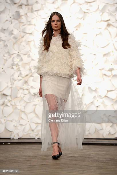 A model walks the runway at the Kaviar Gauche show during MercedesBenz Fashion Week Autumn/Winter 2014/15 at Goya on January 14 2014 in Berlin Germany