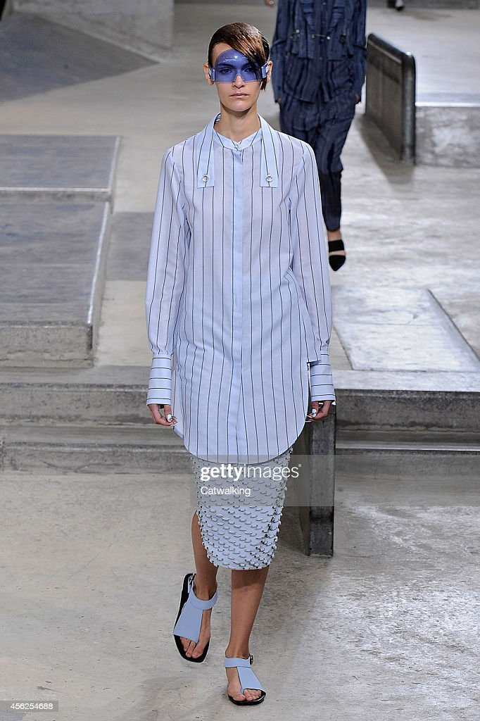 A model walks the runway at the Kenzo Spring Summer 2015 fashion show during Paris Fashion Week on September 28 2014 in Paris France