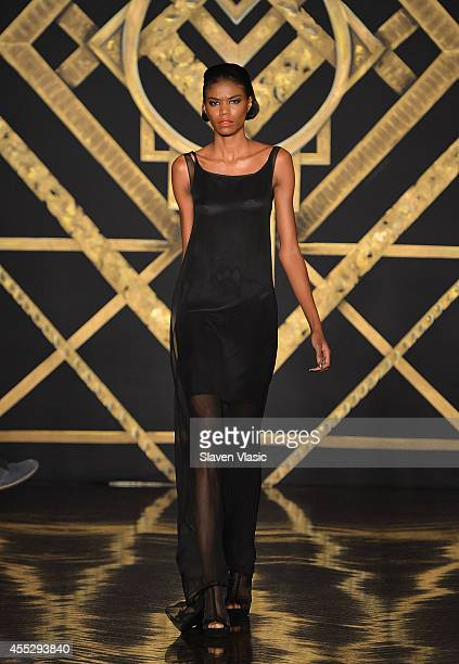 A model walks the runway at the Kithe Brewster fashion show during MercedesBenz Fashion Week Spring 2015 on September 11 2014 in New York City