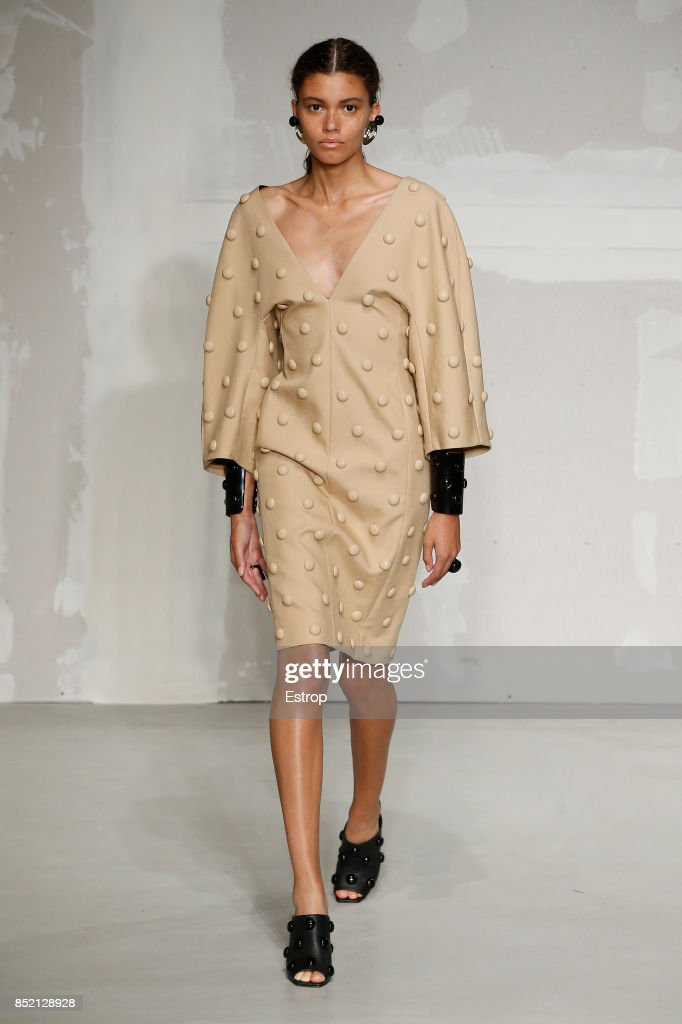 model-walks-the-runway-at-the-krizia-show-during-milan-fashion-week-picture-id852128928