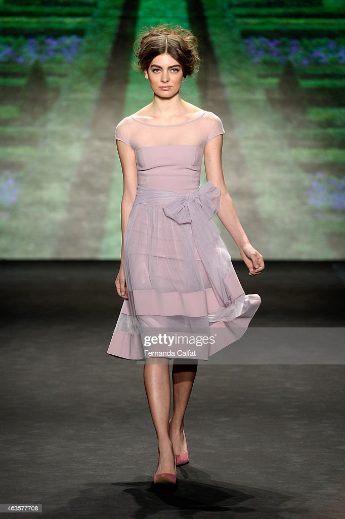 A model walks the runway at the La Petite Robe fashion show during MercedesBenz Fashion Week Fall 2015Lincoln Center on February 16 2015 in New York...