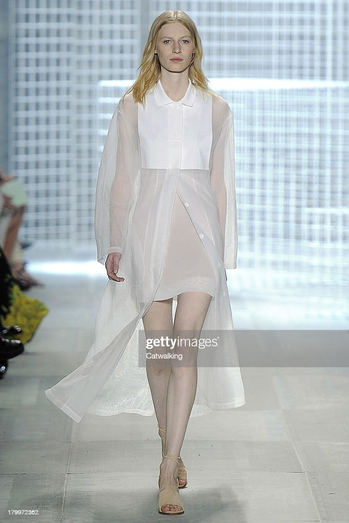A model walks the runway at the Lacoste Spring Summer 2014 fashion show during New York Fashion Week on September 7, 2013 in New York, United States.