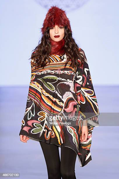 A model walks the runway at the Lady Faith show during Mercedes Benz Fashion Week Istanbul FW15 on March 18 2015 in Istanbul Turkey