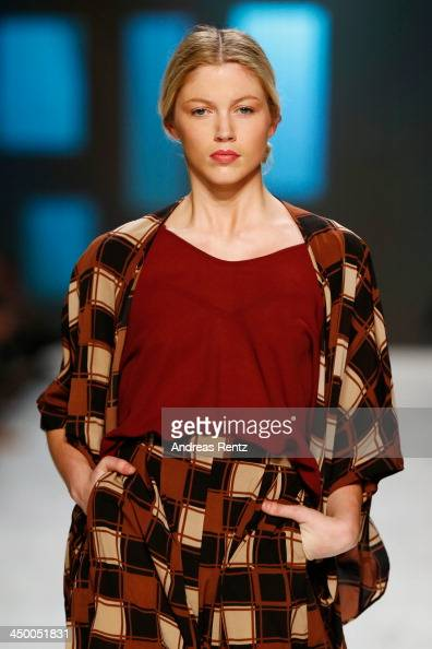 A model walks the runway at the Laend Phungkit show during MercedesBenz Fashion Days Zurich 2013 on November 16 2013 in Zurich Switzerland