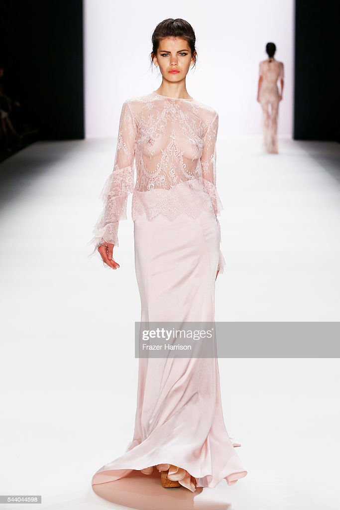 A model walks the runway at the Lana Mueller show during the Mercedes-Benz Fashion Week Berlin Spring/Summer 2017 at Erika Hess Eisstadion on July 1, 2016 in Berlin, Germany.