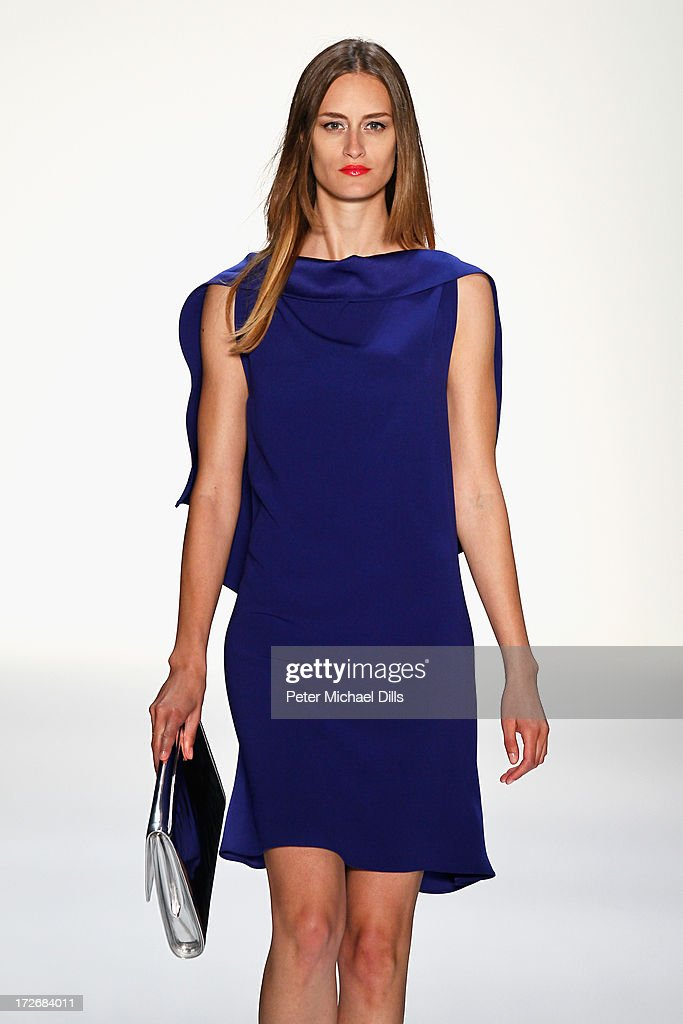 A model walks the runway at the Laurel Show during the Mercedes-Benz Fashion Week Spring/Summer 2014 at Brandenburg Gate on July 4, 2013 in Berlin, Germany.