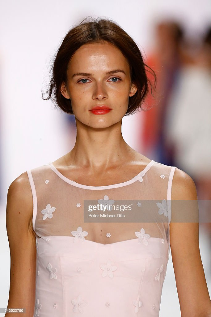 A model walks the runway at the Laurel show during the Mercedes-Benz Fashion Week Berlin Spring/Summer 2017 at Erika Hess Eisstadion on June 29, 2016 in Berlin, Germany.