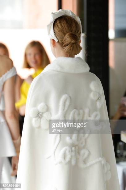 A model walks the runway at the Lela Rose Spring 2018 bridal show at La Sirena on April 20 2017 in New York City