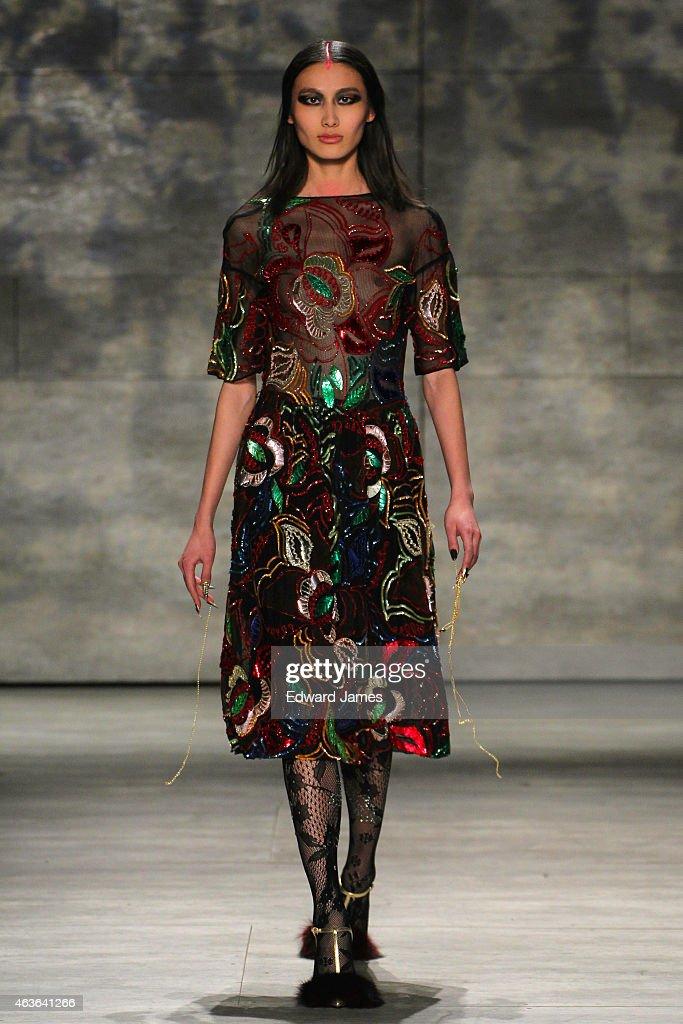 libertine runway mercedes benz fashion week fall 2015 getty images. Black Bedroom Furniture Sets. Home Design Ideas