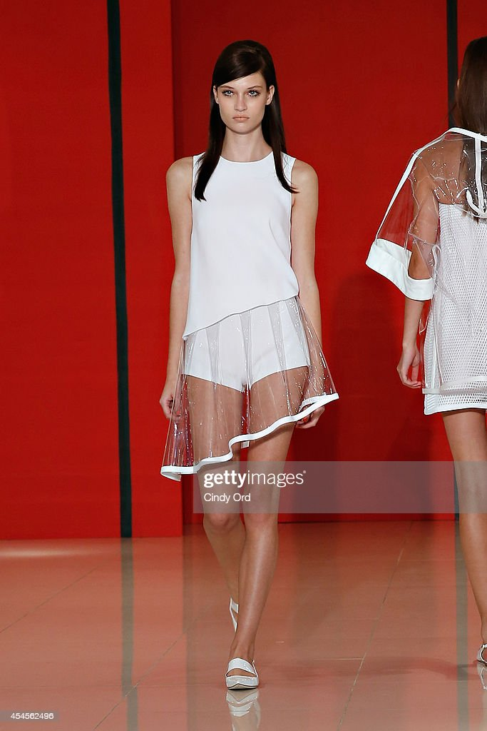 A model walks the runway at the Lisa Perry Presentation during MercedesBenz Fashion Week Spring 2015 on September 3 2014 in New York City