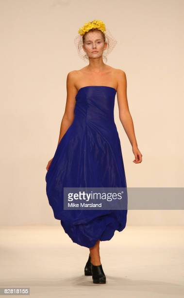 A model walks the runway at the London Fashion Week Spring/Summer 2009 John Rocha fashion show at Natural History Museum on September 15 2008 in...