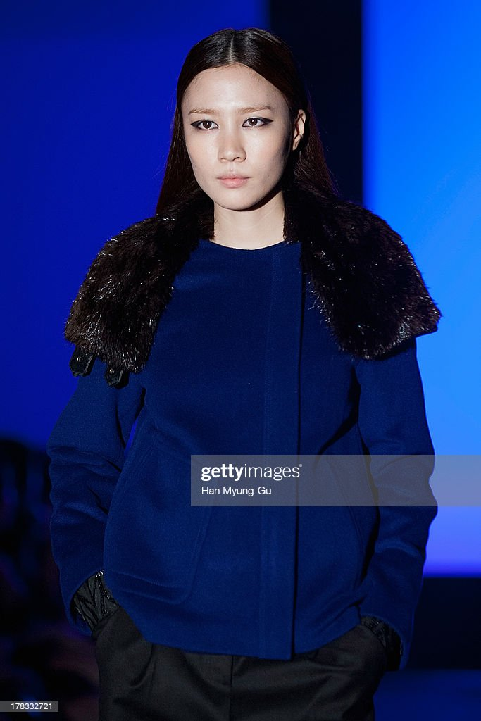 A model walks the runway at the 'Loudmut' launching fashion show at the JNB gallery on August 29, 2013 in Seoul, South Korea.