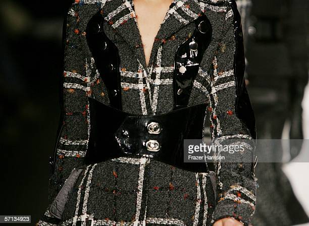 A model walks the runway at the Louis Verdad Fall 2006 show during MercedesBenz Fashion Week at Smashbox Studios on March 19 2006 in Culver City...