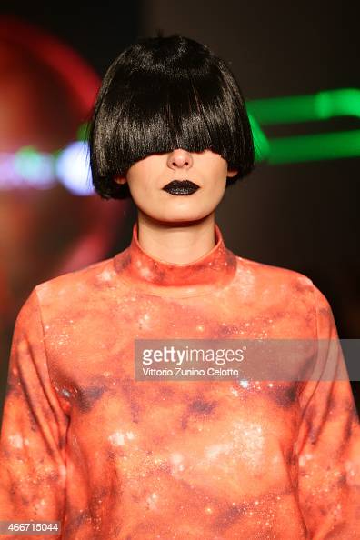 A model walks the runway at the Maid In Love show during Mercedes Benz Fashion Week Istanbul FW15 on March 18 2015 in Istanbul Turkey