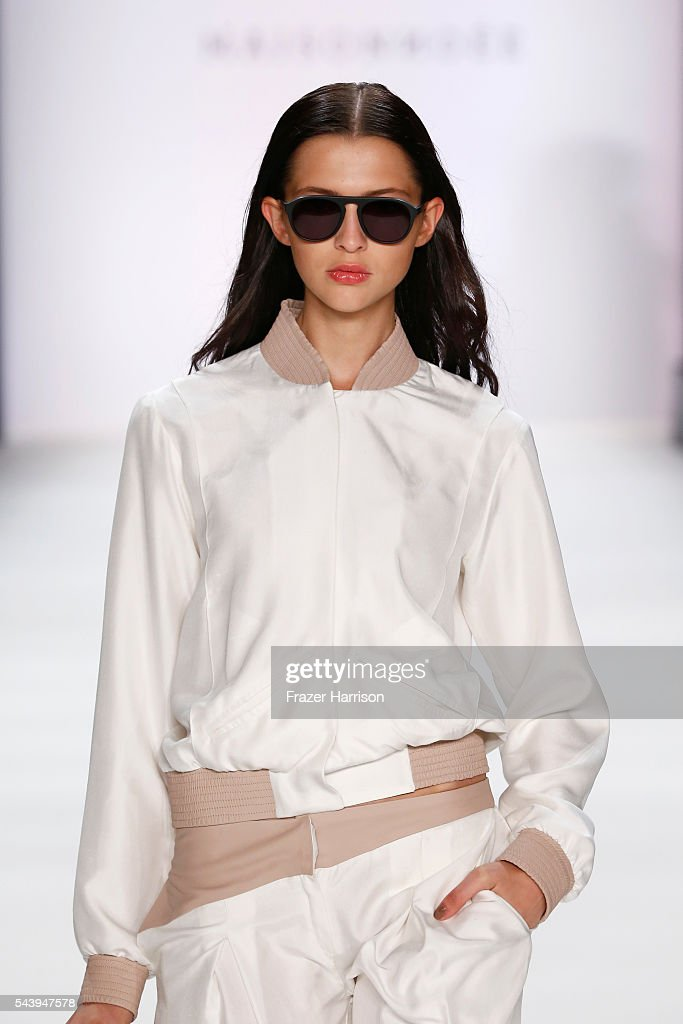 A model walks the runway at the Maisonnoee show during the Mercedes-Benz Fashion Week Berlin Spring/Summer 2017 at Erika Hess Eisstadion on June 30, 2016 in Berlin, Germany.