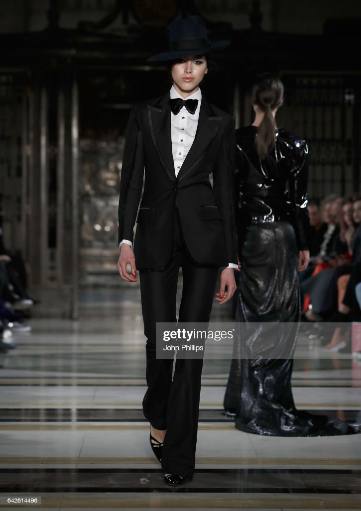 model-walks-the-runway-at-the-malan-breton-show-at-fashion-scout-the-picture-id642614496
