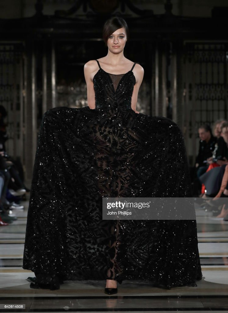 model-walks-the-runway-at-the-malan-breton-show-at-fashion-scout-the-picture-id642614506