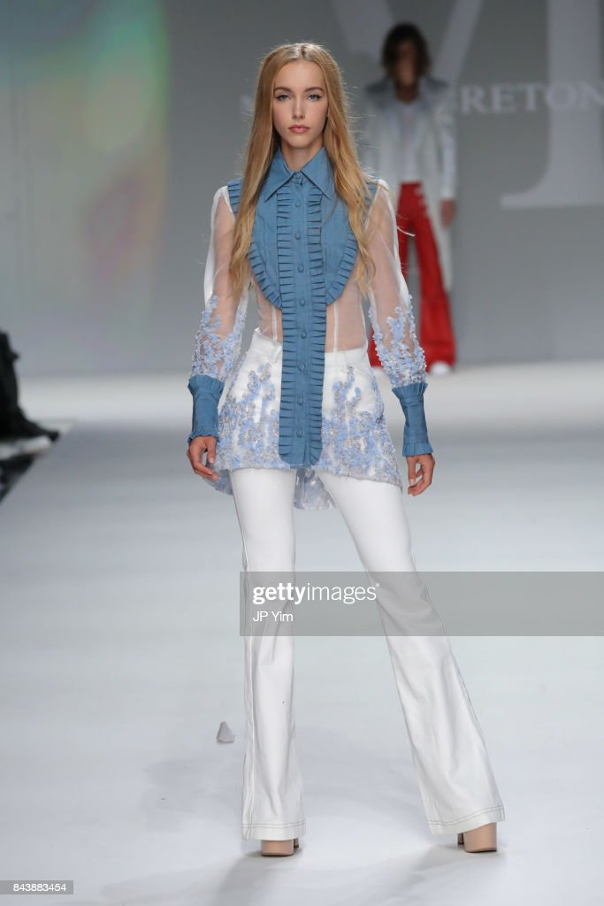 model-walks-the-runway-at-the-malan-breton-ss18-during-new-york-week-picture-id843883454