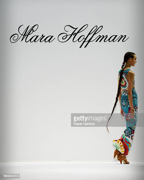 A model walks the runway at the Mara Hoffman fashion show during MercedesBenz Fashion Week Spring 2014 at The Stage at Lincoln Center on September 7...