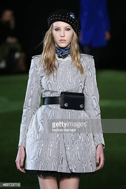 A model walks the runway at the Marc By Marc Jacobs fashion show during MercedesBenz Fashion Week Fall 2015 at Pier 36 on February 17 2015 in New...