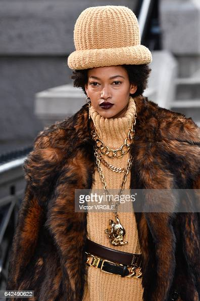 A model walks the runway at the Marc Jacobs Ready to Wear Fall Winter 20172018 fashion show on February 16 2017 in New York City