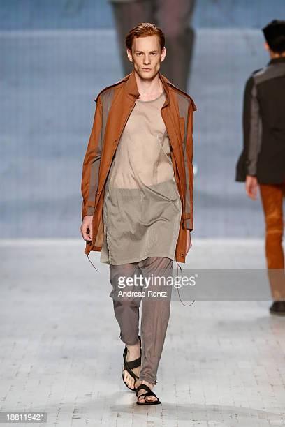 A model walks the runway at the Marc Stone show during MercedesBenz Fashion Days Zurich 2013 on November 15 2013 in Zurich Switzerland