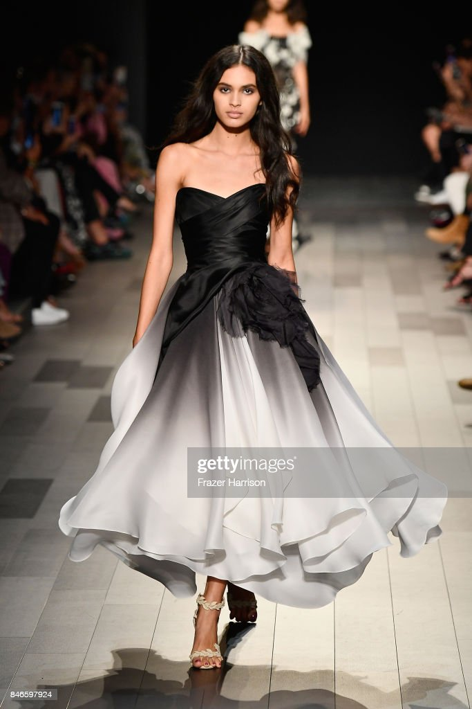 A model walks the runway at the Marchesa fashion show during New York Fashion Week: The Shows at Gallery 1, Skylight Clarkson Sq on September 13, 2017 in New York City.