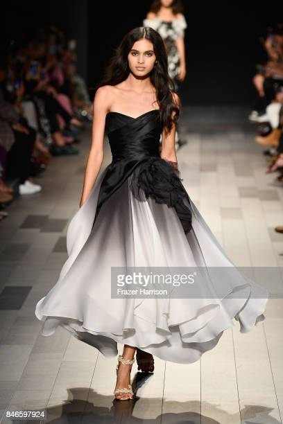 A model walks the runway at the Marchesa fashion show during New York Fashion Week The Shows at Gallery 1 Skylight Clarkson Sq on September 13 2017...