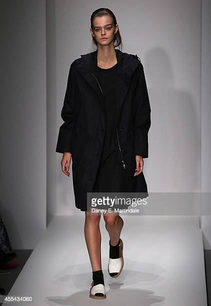 A model walks the runway at the Margaret Howell show during London Fashion Week Spring Summer 2015 on September 14 2014 in London England