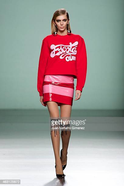 A model walks the runway at the Maria Escote show during Madrid Fashion Week Fall/Winter 2015/16 at Ifema on February 10 2015 in Madrid Spain