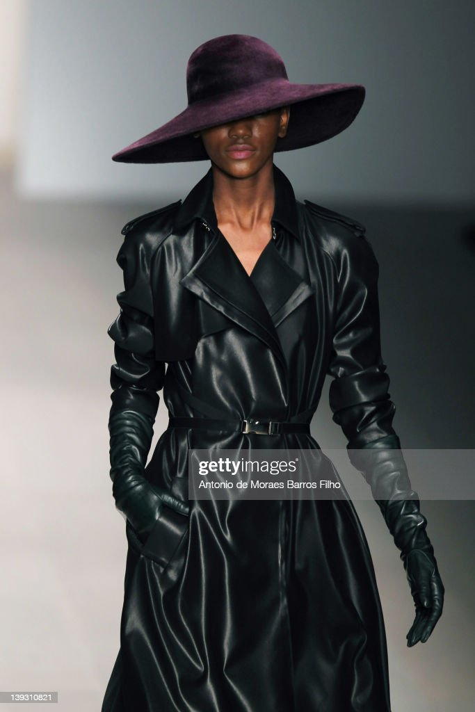 A model walks the runway at the Marios Schwab Autumn/Winter 2012 show at London Fashion Week at Somerset House on February 19, 2012 in London, England.