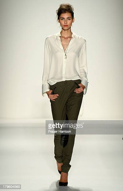 A model walks the runway at the Marissa Webb Spring 2014 fashion show during MercedesBenz Fashion Week at The Studio at Lincoln Center on September 5...