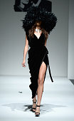A model walks the runway at the Mark And Estel fashion show during MercedesBenz Fashion Week Spring 2014 at The Studio at Lincoln Center on September...