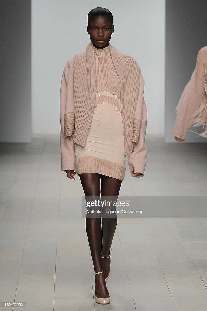 A model walks the runway at the Mark Fast Autumn Winter 2012 fashion show during London Fashion Week on February 20 2012 in London United Kingdom