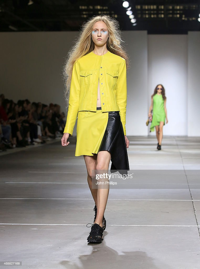 A model walks the runway at the Marques'Almeida show during London Fashion Week Spring Summer 2015 on September 16 2014 in London England