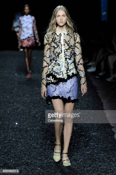 A model walks the runway at the Mary Katrantzou Spring Summer 2015 fashion show during London Fashion Week on September 14 2014 in London United...