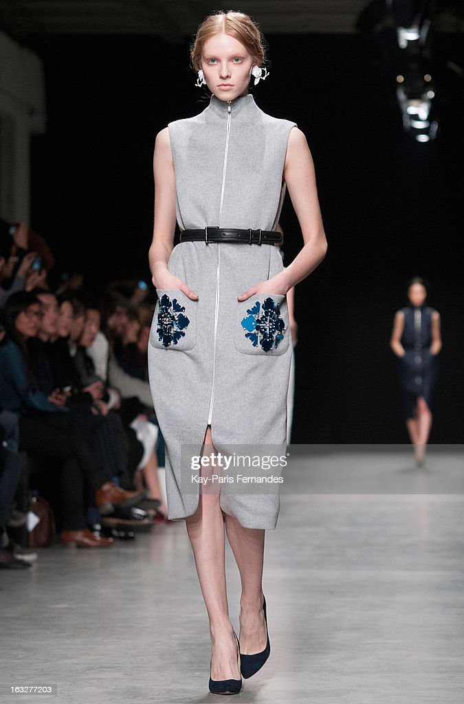 A model walks the runway at the Mashama Fall/Winter 2013 Ready-to-Wear show as part of Paris Fashion Week on March 6, 2013 in Paris, France.
