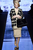 A model walks the runway at the Max Mara Autumn Winter 2015 fashion show during Milan Fashion Week on February 26 2015 in Milan Italy