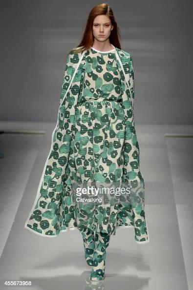 A model walks the runway at the Max Mara Spring Summer 2015 fashion show during Milan Fashion Week on September 18 2014 in Milan Italy