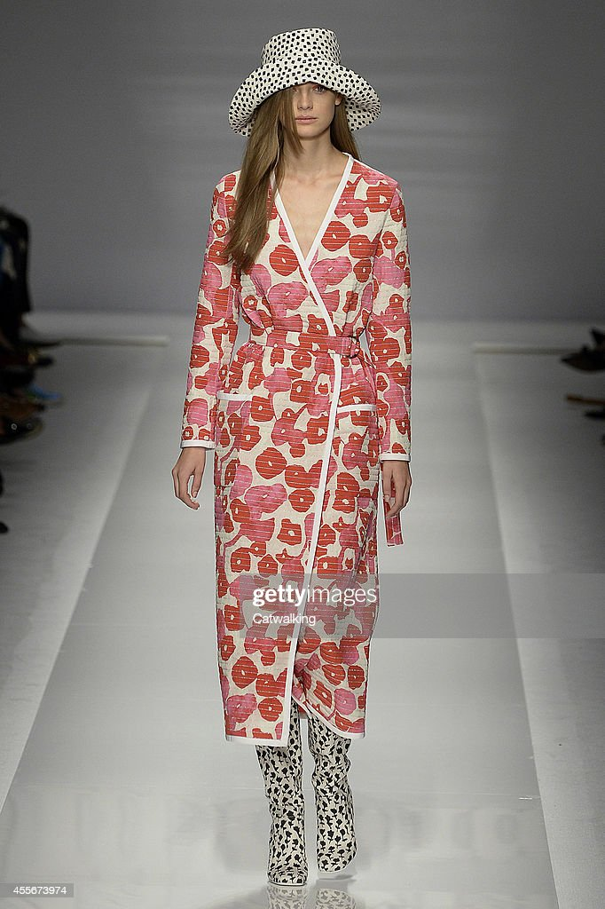 A model walks the runway at the Max Mara Spring Summer 2015 fashion show during Milan Fashion Week on September 18 2014 in Milan Italy