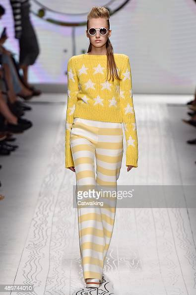 A model walks the runway at the Max Mara Spring Summer 2016 fashion show during Milan Fashion Week on September 24 2015 in Milan Italy