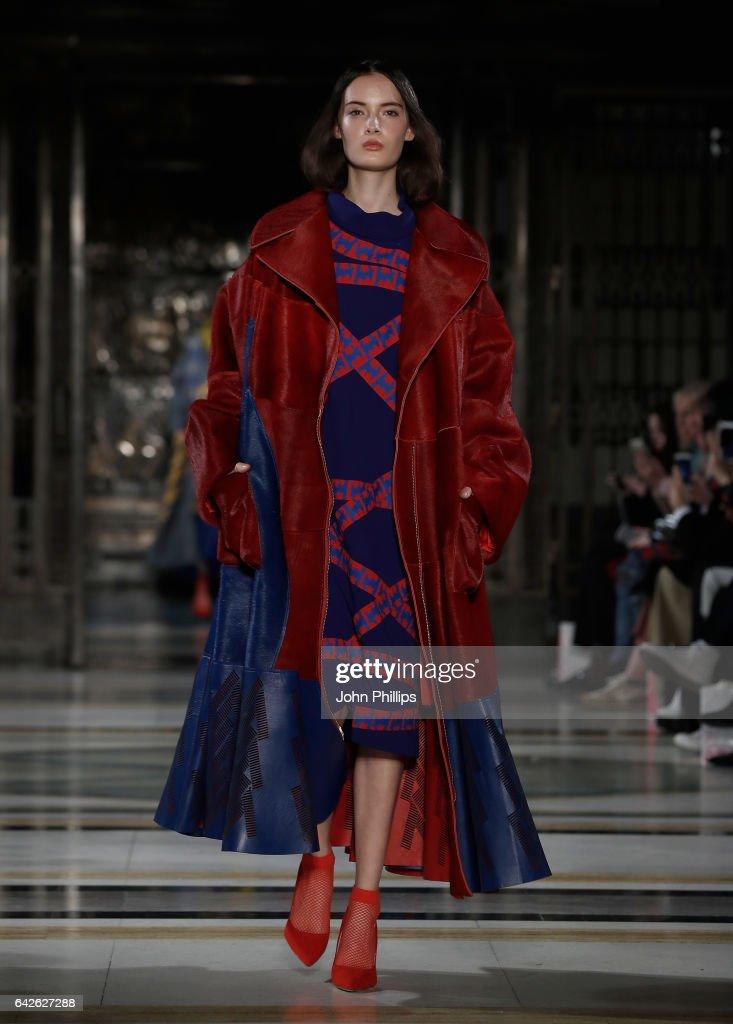 model-walks-the-runway-at-the-merit-award-winner-katie-ann-mcguigan-picture-id642627288